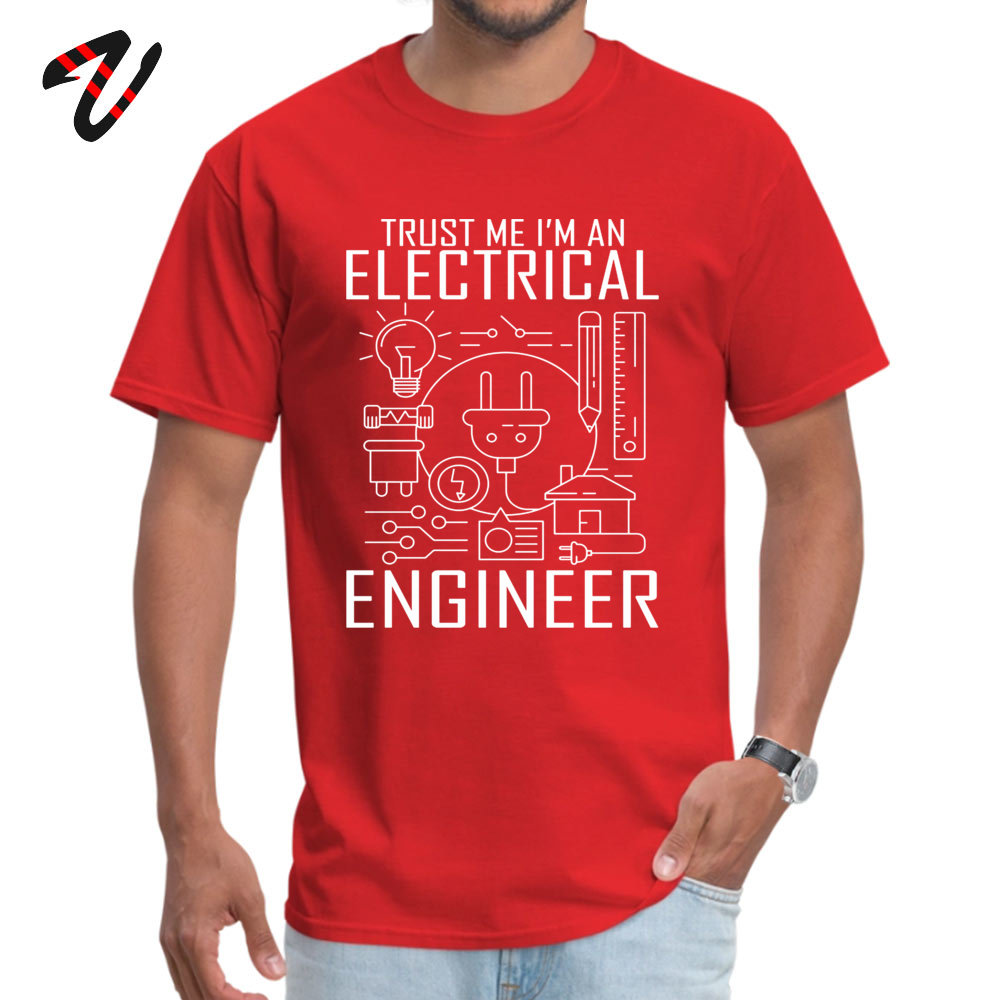 2019 Popular TrustmeIamanEngineer Printed Top T-shirts O Neck 100% Cotton Men Tops T Shirt Short Sleeve Tee Shirts Autumn 200Trust-me-I-am-an-Engineer red