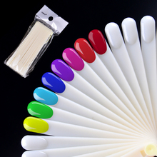 20Pcs Nail Polish UV Gel Color Palette Card Display Shelf Practice Training Fan Shaped Showing Sticks Manicure Tool