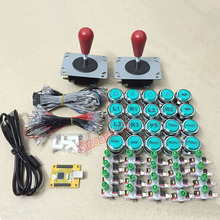 Arcade DIY KIT Multicade 2 player 2 IN 1 USB interface to joystck with icon LED buttons