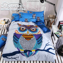 Fashion Printing large Version Cartoon Bedding Sets Full/Queen Size 4piece Sheet Bed Sheet Pillowcase Duvet Cover Select Young(China)