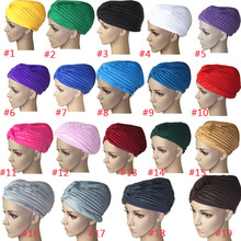 Buy Fashion Women Hijab Turban Headwrap Cap Islamic Solid Hat Muslim Indian Caps New H9 for $1.20 in AliExpress store
