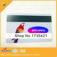 CR80 credit card size both side Printed Plastic PVC magnetic membership card(China)