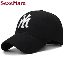 Best brand unisex fashion cotton baseball cap NY snapback hat for men women sun hat letter embroidery cap male sport bone gorra(China)