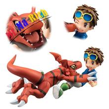 Anime Figure Toy Digimon Adventure Matsuda Takato Guilmon Figurine Statues 13cm(China)
