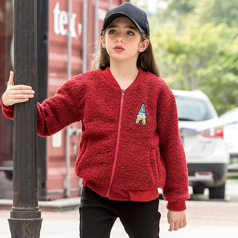 2017 Kids Clothing Vetement Fille Long Sleeve Coat For Girls With Fleece Winter Outwear Thick Cardigan For Age 6 7 8 9 10 11 12<br><br>Aliexpress