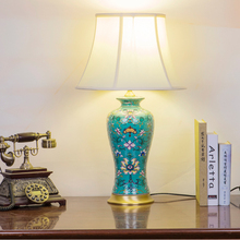 Famille rose Jingdezhen Chinese ceramic table lamp bedroom living room dining room decoration antique table lamp