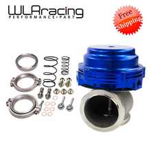 WLR FR SHIPPING- Water cooler 44mm TL Wastegate external turbo red/blue/black With Flange/Hardware MV-R Water-cooled w/logo5834