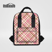 Dispalang Fashion Mummy Maternity Backpacks Plaid Patterns Women Travel Shoulder Bags Vintage Stroller Outdoors Shopping Bagpack(China)