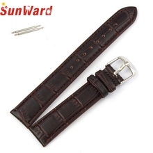 SunWard Watchbands Black/Brown High Quality Soft Sweatband PU Leather Strap Steel Buckle Wristwatches Band Width18mm/20mm/22mm