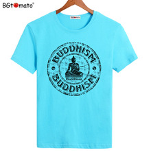 BGtomato Buddhism shirts New style summer clothes Hot sale cool tops for men Original brand personality T-shirts(China)