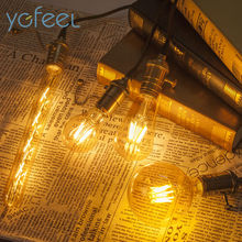 [YGFEEL] Retro Edison LED Bulbs Pale Gold Amber Light Gold 4W/6W/8W Vintage Lamp Bulbs 220V Warm Light Home lighting decoration