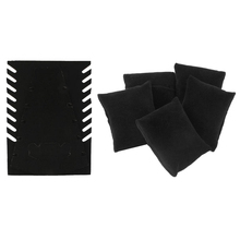 6 Pieces Black Velvet Pillow Panel Cardboard Bracelet Watch Necklace Jewelry Display Shop Counter Jewelry Organizer