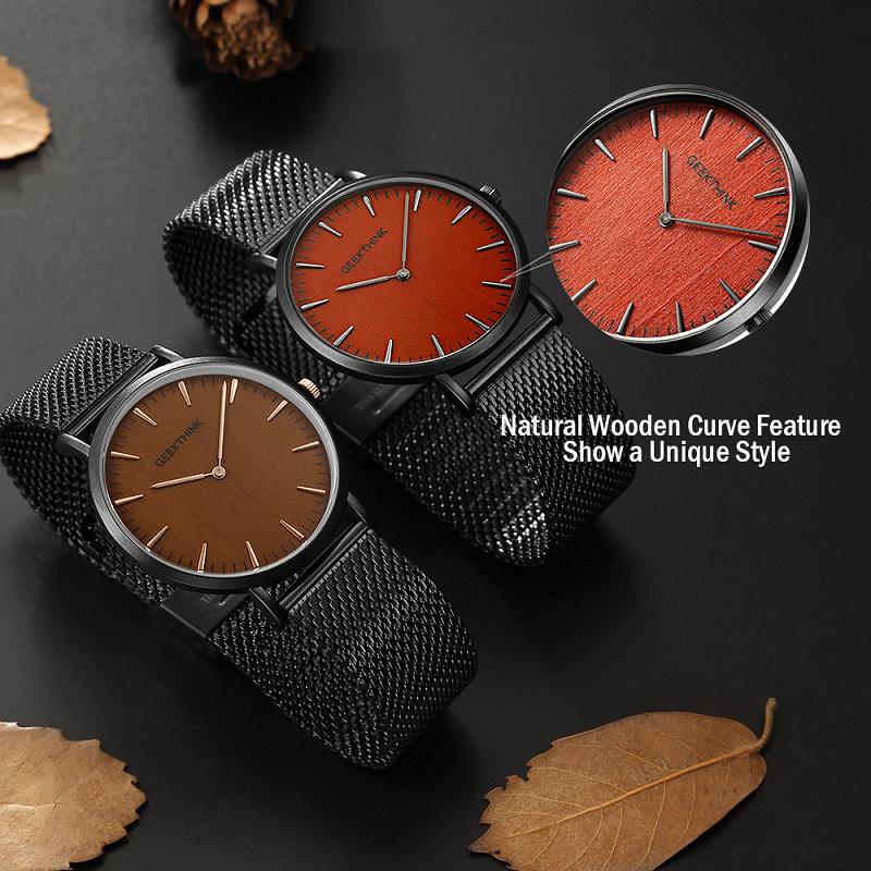 GEEKTHINK-Brand-ultra-slim-Top-thin-Quartz-Watch-Men-Casual-Wooden-Face-Stainless-Steel-JAPAN-Analog