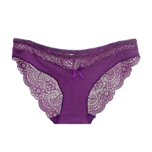 Buy Soft breathable Sexy underwear Women Panty Low-Rise Knickers Hollow Briefs Thin Underwear Lace Panties Lady Summer