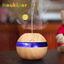 Houkiper 300ml USB Ultrasonic Humidifier Quiet Aroma Fragrance Diffuser Machine Nebulizer Spa with Blue LED Light for Livingroom(China)