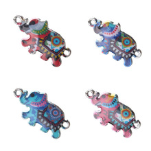Buy 10pc/lot Charms Bracelet Connector Evil Eye Elephant Necklace Pendant Alloy Charms Jewelry Making Accessories 27*15mm for $2.15 in AliExpress store