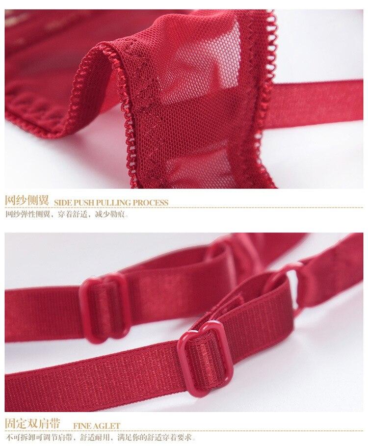 new comfortable slim lace embroidery sexy bra ladies bra set underwear women lingerie seamless panties sets