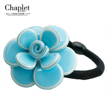 2016 High Quality Chaplet Fashion Female Flowers Hair Accessories Elastic Hair Bands Acetate Multicolor Hair Rope Free Shipping