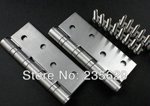 Free Shipping, 304 brushed stainless steel Hinges for timber door / Metal Door, ball bearing hinge, no noise, long life