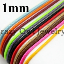 20meters 1mm Shiny Nylon Waxed Cord Bulk Necklace Rope Chain Thread String Strap Wholesale Fit For Shamballa Bracelet Y708