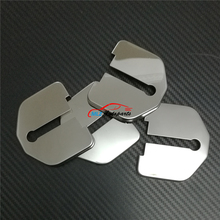 Car Door Lock Cover Special Buckle Sticker Lid Protector Trim 4P Stainless Steel For Volvo XC60 2009 2010 2011 2012 2013