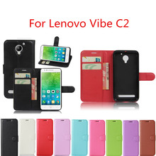 Hot Selling For Lenovo Vibe C2 Case Wallet Style Leather Mobile Phone Protective Back Cover For Lenovo C2 k10a40 Phone Cases