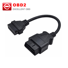 New 16 Pin Male To 16 Pin Female OBD 2 OBD II Extension Factory OBD2 OBDII Adapter Connector