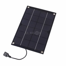 ELEGEEK 6W Semi Flexible Monocrystalline silicon Solar Panel Charger 5V USB Output Solar Charger with 5V Regulator 260*170mm