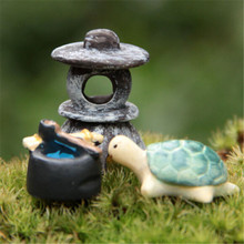 FD1529 new Miniature Dollhouse Bonsai Craft Landscape DIY Flower Decor Sea Turtle