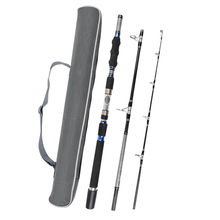 Fiblink 3-Piece Spinning Rod Heavy Spinning Fishing Rod Portable Fishing Rod Graphite Spin Rod (30-50-Pound Test)(China)