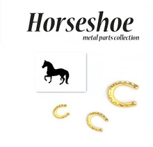 HOT Japanese nail style 100pcs special metal parts alloy horseshoes nail stud charm DIY U shape nail art metal glitter rivet