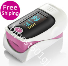 Hot Sale Pink Fingertip Pulse Oximeter SPO2 Pulse Rate Oxygen Monitor Sound Alarm 6 Modes OLED Display Finger Oximeters(China)