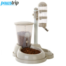 Pet Automatic Dog Cat Feeder Detachable Wash Water Drinking Food Fountains Dispenser 4 Colors(China)