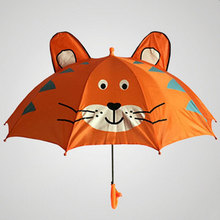 Creative Cartoon Umbrella Children Lovely Ears Whistle Bumbershoot Suitable For 2-7 Years Old Young Kids Animal Umbrella