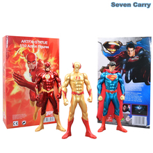 "DC Comics Superhero The Flash Superman POP PVC Action Figure Justice League Collectible Model Christmas Gifts Toy 7""18CM CSSEC1(China)"