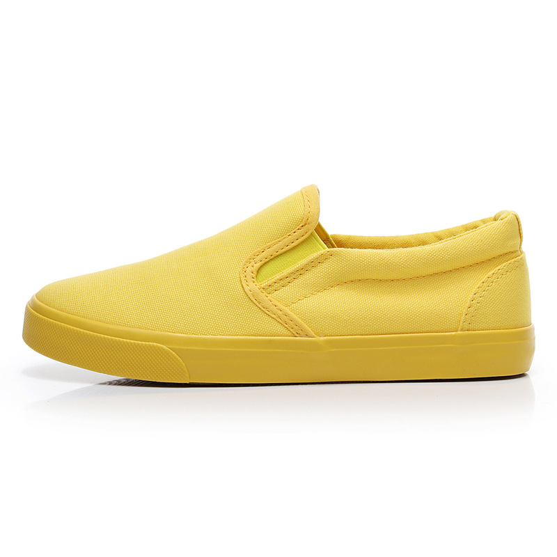 Women Vulcanize spring auntum Shoes Summer Breathable fashion Trainers Casual Shoes Cheap yellow Canvas Platform Shoes Sneakers (14)