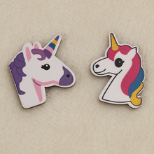 louwang unicorn Cartoon Brooch Acrylic Badges Icons on The Backpack Pin Badge Decoration Badges for Clothing decoration