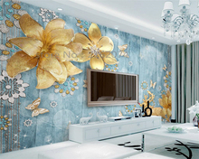 Photo Wallpaper 3d Luxury Jewelry Flower Mediterranean Modern Home Decor Wallpaper Beibehang para quarto 3d wallpaper