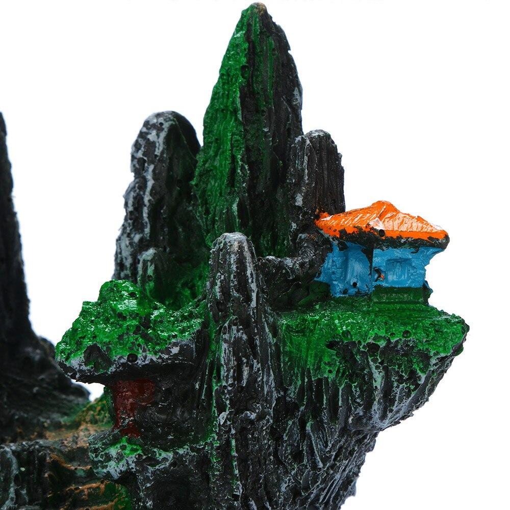 Ornamento de acuario plana con el respaldo de roca paisaje /& Función Cascada 24 X 8 X 22 Cm