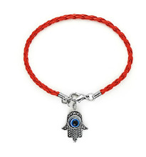 red string handmade hamsa hand eye charm bracelet bring you lucky protect peaceful friendship turkish jewelry pulsera cuerda(China)