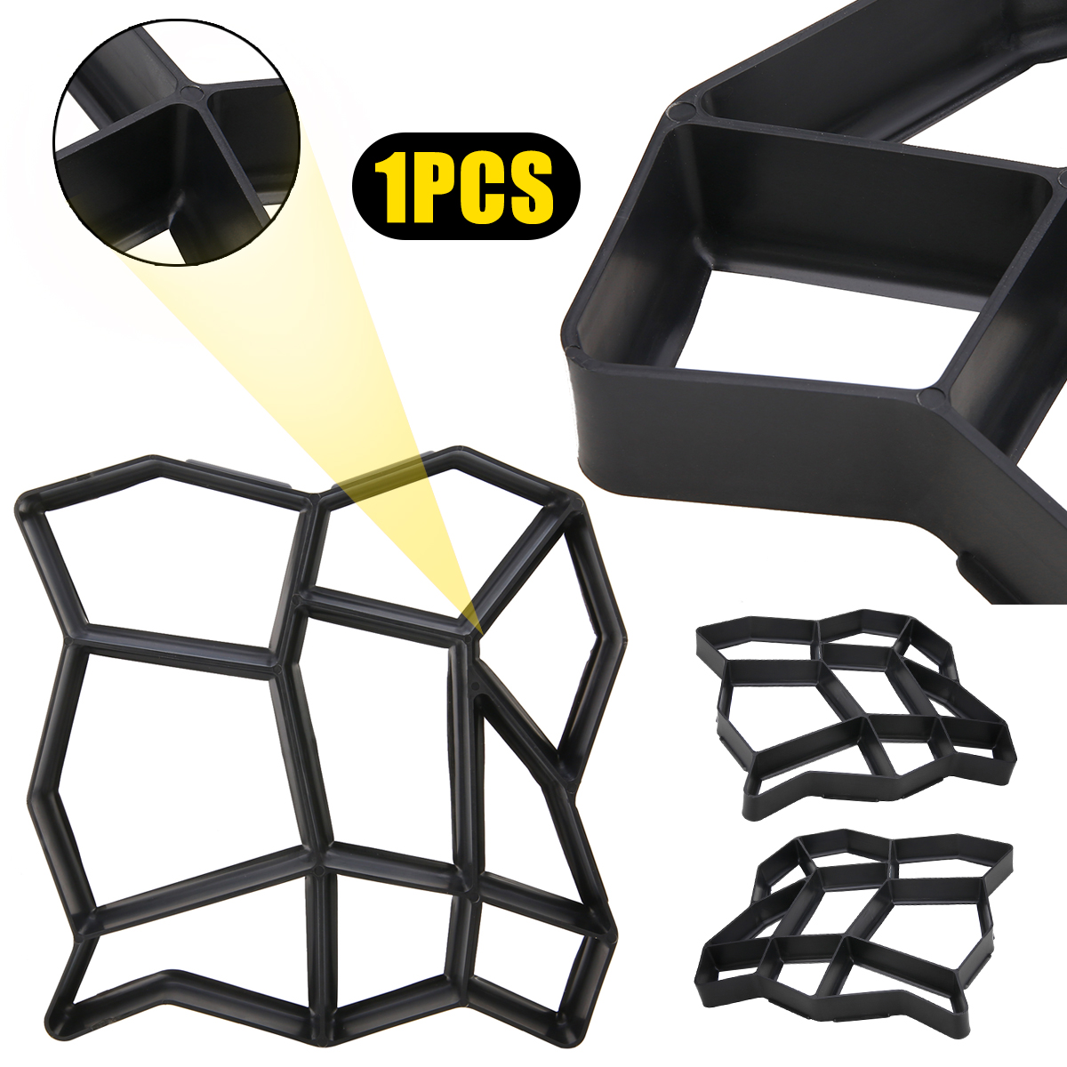 Plastic Paving Mould Concrete Stepping Driveway Stone Path Mold Patio Maker High Quality Tools For DIY Garden Pavement