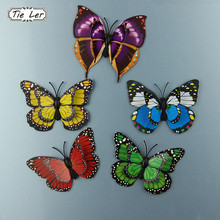 12Pcs/Lot 3D PVC Magnet Double Butterflies Fridge Magnet DIY Wall Sticker Home Decor New Arrival(China)