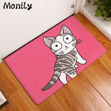 Monily Anti-Slip Floor Mat Waterproof Cute Cartoon Kids Animals Cat Carpets Bedroom Rugs Decorative Stair Mats Home Decor Crafts(China)