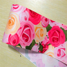 pick color size 16 22 25 38 50 75 mm width rose flower Floral Printed Grosgrain Ribbon  XF108