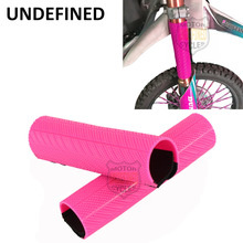Pink Motorcycle Parts Dirt Bike Front Fork Protector Shock Absorber Guard Wrap Cover Skin For Kawasaki Honda BMW UNDEFINED