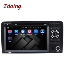 Idoing Android6.0/2G+32G/8Core/2Din For Audi A3 Car DVD Player Multimedia Video Head Device 3G WIFI SWC Dual TV OBD2 Fast Boot