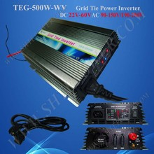 500W Grid Tie Inverter 22-60V DC for 24v/36v/48v solar panel,factory directly,wholesale,fast ship