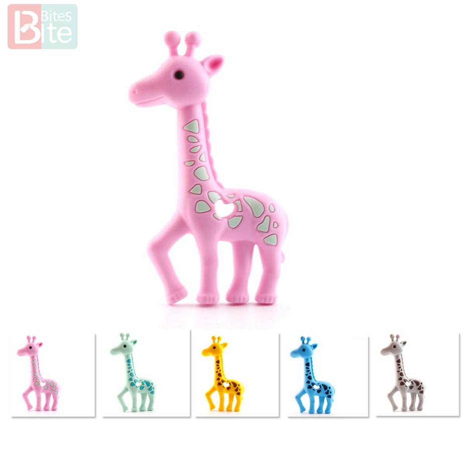 Baby Teether Toys Safety Silicone Biting Teething Chew Toy Giraffe for Baby Q