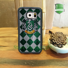 Harry Potter Slytherin House Mobile Phone Cases For Samsung S7 S7edge S6 S6edge plus S5 S4 S3 Note5 Note4 Note3 Y#1074