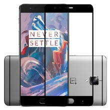 LEPHEE OnePlus 3 Tempered Glass One Plus 3T 2.5D Curve Full Cover Screen Protector Film For OnePlus3 Three 9H Premium Glass Film